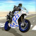 骑着摩托车的警察