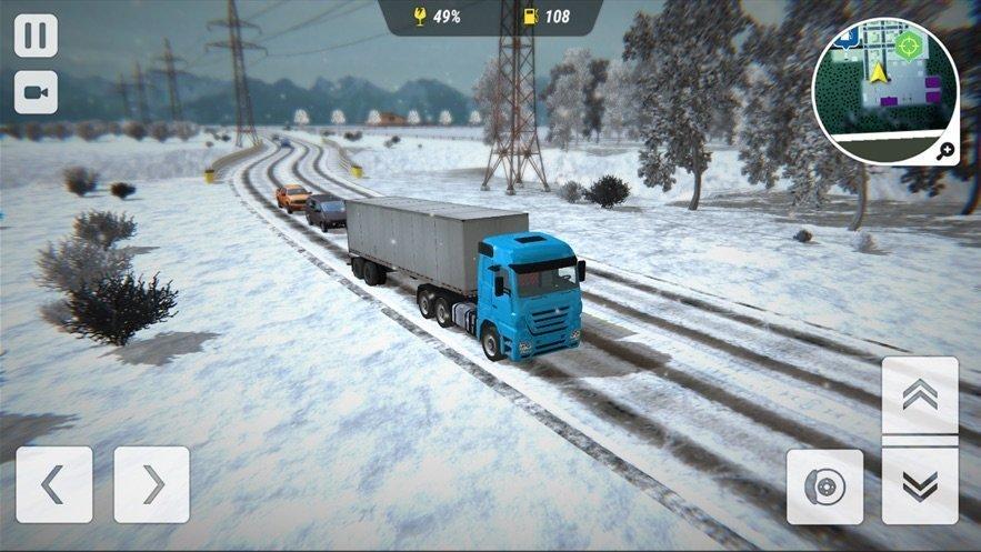 冬季卡车驾驶员模拟器图2