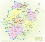 浙江地图全图可放大