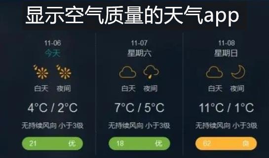 显示空气质量的天气app